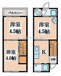 [一戸建] 大阪府東大阪市御厨東2丁目 の賃貸【/】の間取り