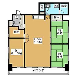 マンションさもと3[3階]の間取り
