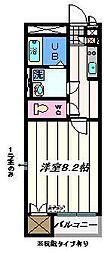 千葉県松戸市日暮6丁目の賃貸アパートの間取り