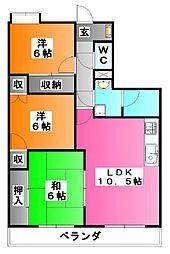 メルベーユ秀華[6階]の間取り