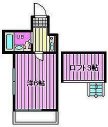 レオパレス21浦和第一[1階]の間取り
