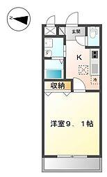 茨城県水戸市赤塚1丁目の賃貸マンションの間取り
