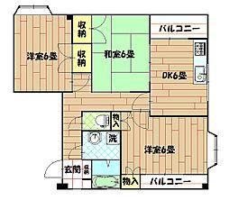 杉田ビル[4階]の間取り