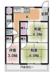 オレンジマンション[3階]の間取り