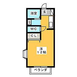 コーポハシマ[2階]の間取り