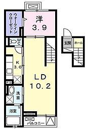 ヴォワ ラクテ サウス[4階]の間取り