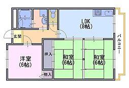 ファームエイト[1階]の間取り
