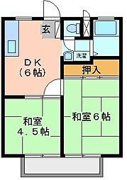 ホワイトパレス A棟[1階]の間取り