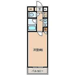 ア−バンクル−ザ−六ツ門[1001号室]の間取り