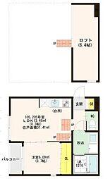 名古屋市営桜通線 中村区役所駅 徒歩10分の賃貸アパート 1階1SLDKの間取り