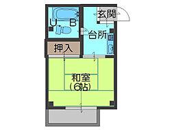 前川ハイツ[3階]の間取り