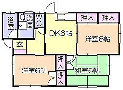 [一戸建] 福岡県久留米市高良内町 の賃貸【福岡県 / 久留米市】の間取り