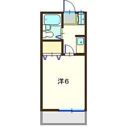 第八グリ−ンコ−ポ[203号室]の間取り