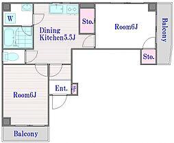 メゾン常盤台[3階]の間取り