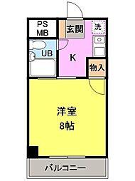 ダイヤコーポ桂川[7階]の間取り