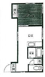 ハイツ蘭亭[2階]の間取り