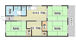 瀬尾コーポ[201号室]の間取り