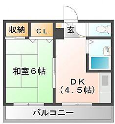 カンサイマンション[2階]の間取り