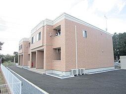 茨城県ひたちなか市大字足崎の賃貸アパートの外観