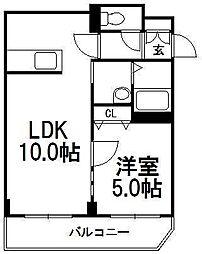 北海道札幌市西区二十四軒四条5丁目の賃貸マンションの間取り