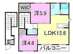 パークハイム土居田[C-203 号室号室]の間取り