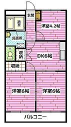 広島県広島市安佐南区東野2丁目の賃貸マンションの間取り