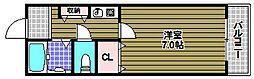 アドバンス阪南[4階]の間取り