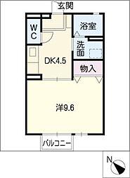 ダイワロイヤルタウンB[1階]の間取り
