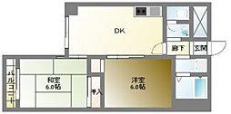 エーデルブルグ[8階]の間取り