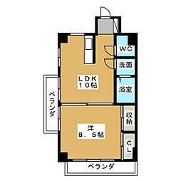 富士見町SKビル[4階]の間取り