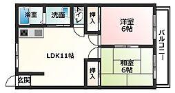 高浜BLDⅠ[203号室]の間取り