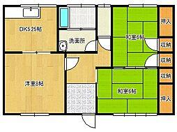 高木アパート[1号室]の間取り