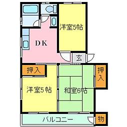 兵庫県神戸市灘区篠原南町1丁目の賃貸マンションの間取り