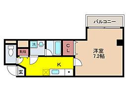 GKレジデンス深江[3階]の間取り