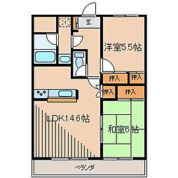柿生駅前鈴木ビル[6階]の間取り