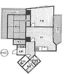 武庫之荘ジェメッリ[604号室]の間取り