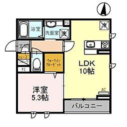 桜DKハイム[301号室]の間取り