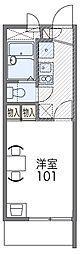 京阪本線 守口市駅 徒歩15分の賃貸マンション 3階1Kの間取り