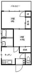 田倉荘[2階]の間取り