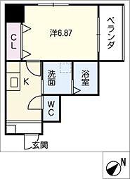 シャンポール内田橋[10階]の間取り