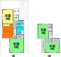 [一戸建] 香川県高松市浜ノ町 の賃貸【/】の間取り