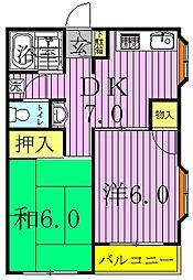 ハウス1001[101号室]の間取り