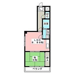 セントラルハイツ112[3階]の間取り