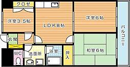 クレベール皇后崎[7階]の間取り