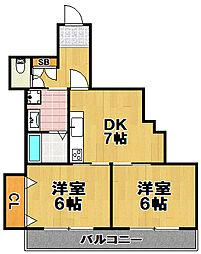 メゾンアーサー[4階]の間取り