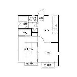 エステートピア足立B棟[2階]の間取り