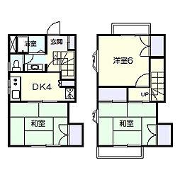 [タウンハウス] 千葉県松戸市六高台6丁目 の賃貸【/】の間取り