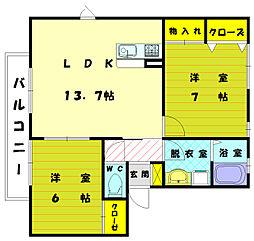 丸昭第7[2階]の間取り