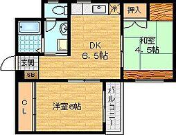 マンション吉岡[3階]の間取り