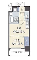 アザレア梅田 7階1DKの間取り